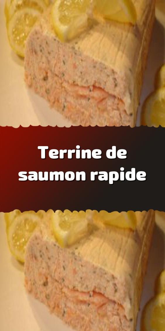 Terrine de saumon rapide #terrinedesaumon