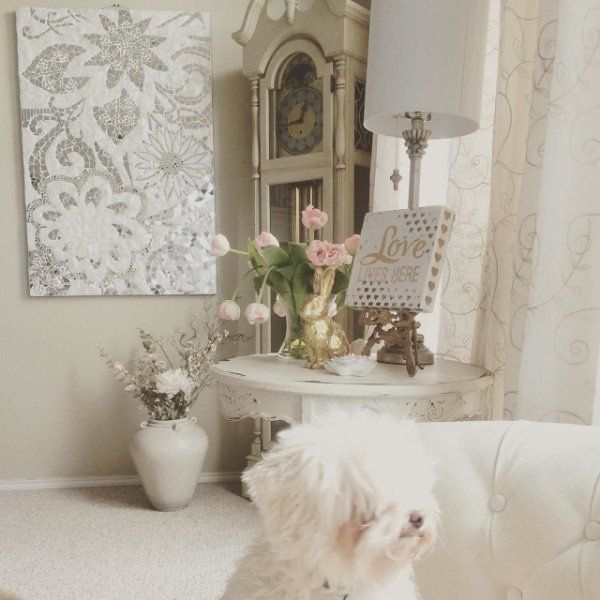 Living Room Translate To Indo: Floral Capiz Mosaic Wall Panel