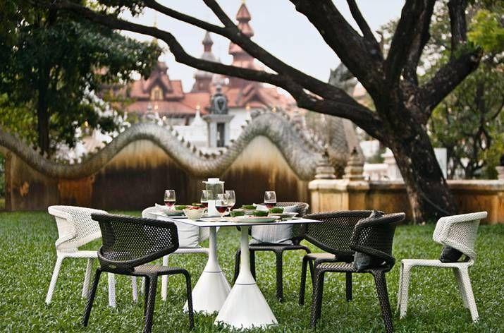 Dedon Satellite Esstisch Rund O 70 Cm Hochwertige Outdoor Gartenmobel Satellite Von Villa Schmidt Dedon Outdoor Deco Contemporary Dining Table
