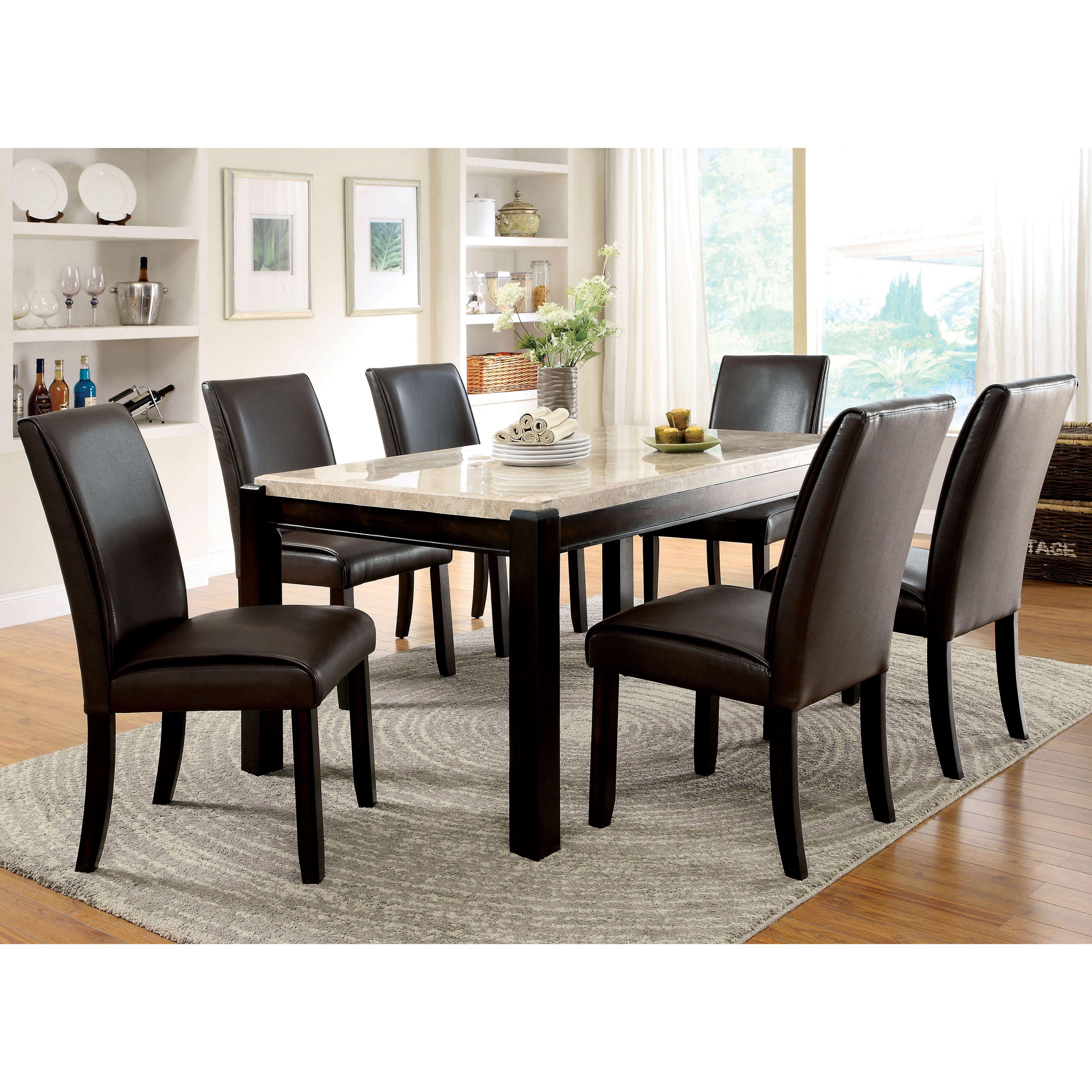 Kitchen bistro set  Furniture of America Joreth piece Dark Walnut Brown Dining Set
