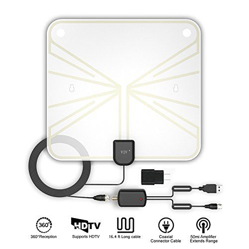 Tv Antenna Indoor Amplified Hdtv Antenna 50 100 Miles Range With Detachable Amplifier Signal Booster And 16 5ft High Performance Coax Cable Extremely High Rec With Images Hdtv Antenna Tv Antenna Signal Boosters