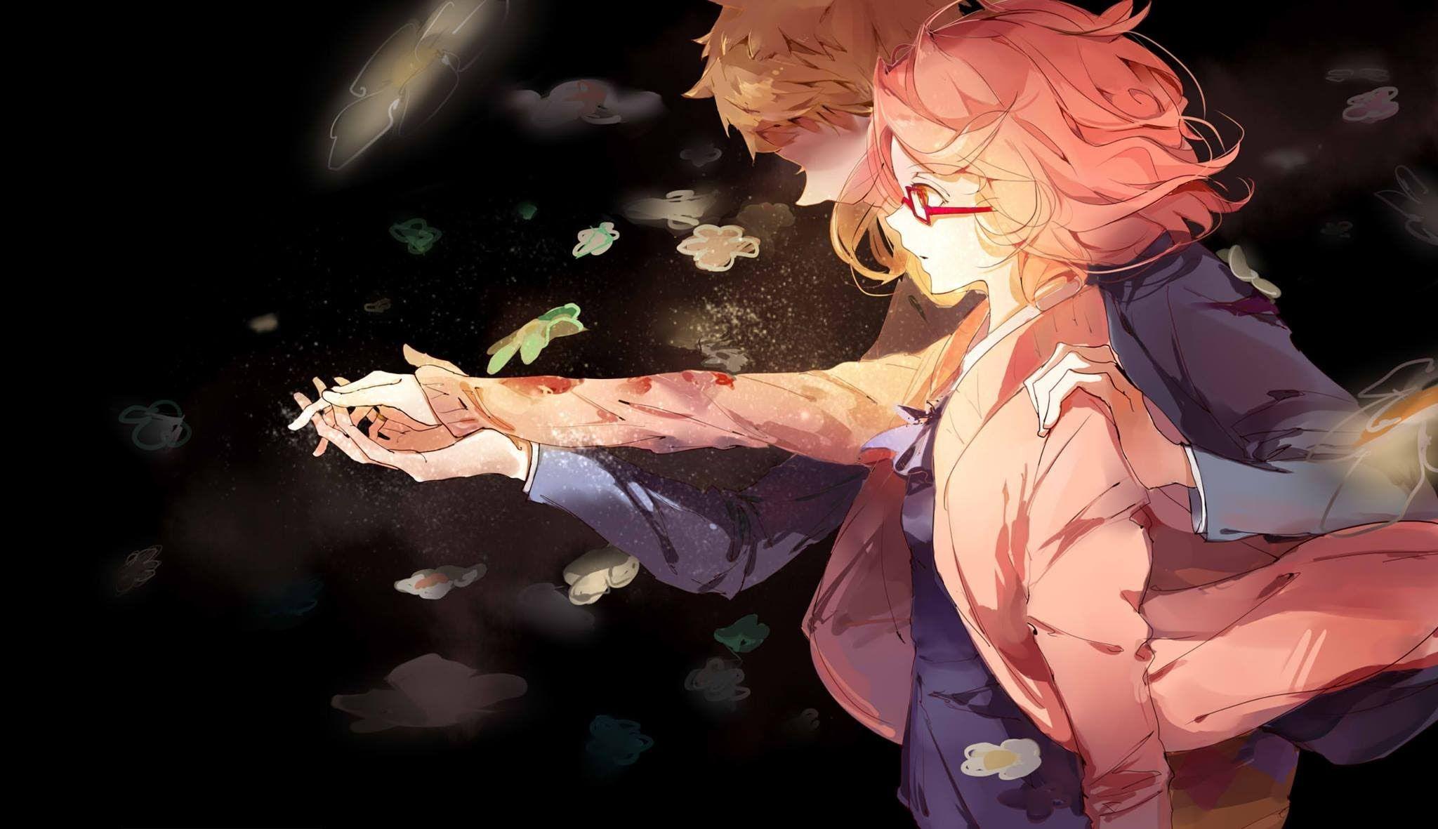 Most Epic Moment Of Kyoukai No Kanata Youtube Anime Anime Fanart Kanata