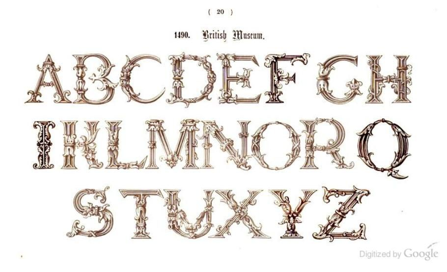 The book of ornamental alphabets, ancient and modern - Freeman Gage Delamotte - Google Books