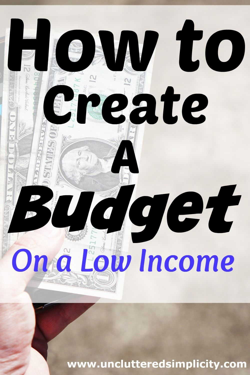 Are you a low income family struggling to live within your means? I'll