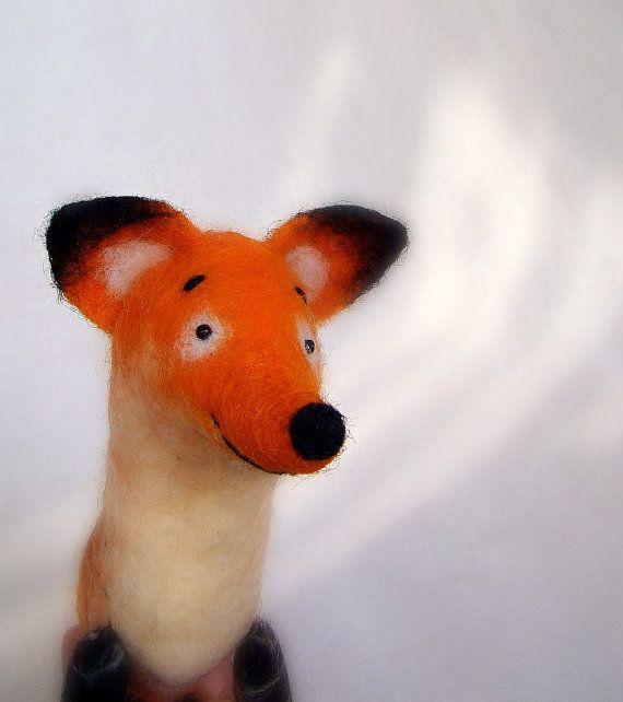 Fox in feltro feltro giocattolo  Ludwig Art Toy. di TwoSadDonkeys