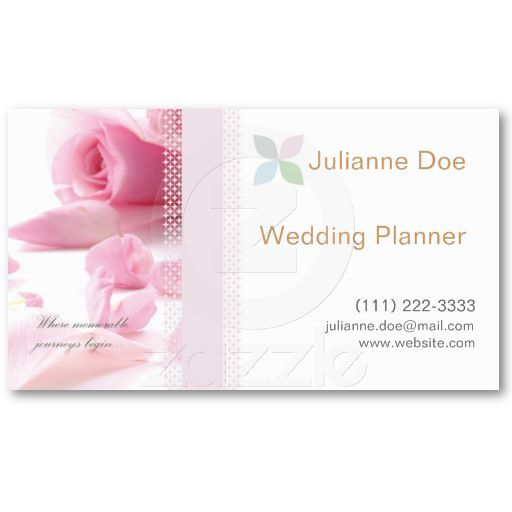 Wedding Planner Personal Card Business Templates
