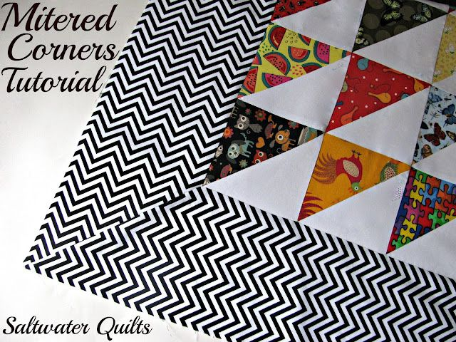 Tutorial Mitered Corners Quilt Corners Sewing Mitered Corners Quilt Tutorials