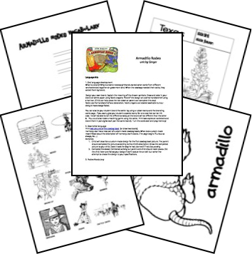 Armadillo Rodeo Unit and Lapbook Author: Jan Brett ISBN