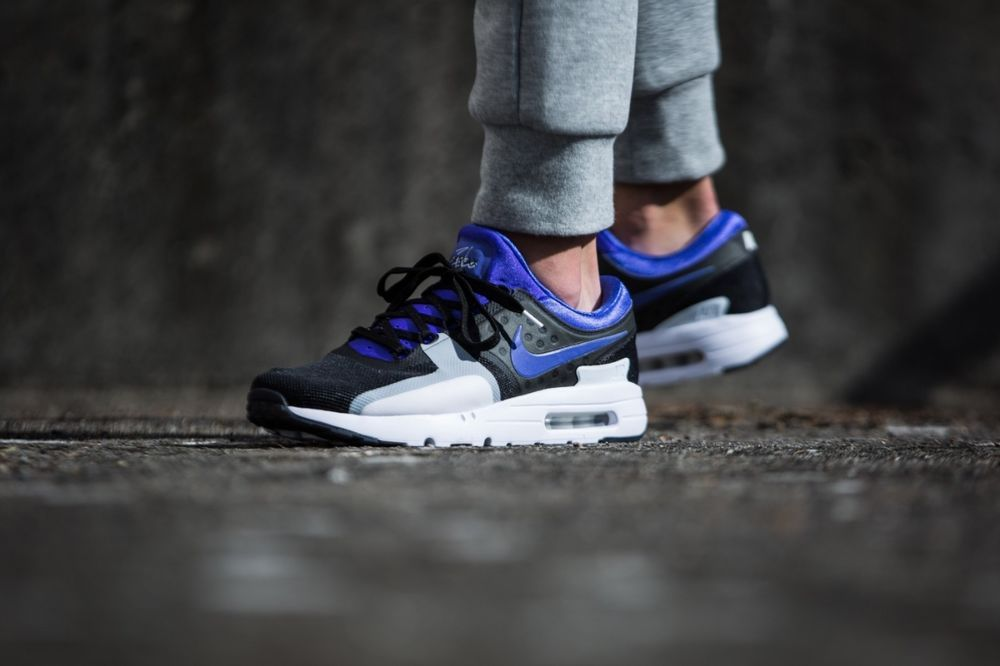 1d2405c2f23b NIKE AIR MAX ZERO QS BLACK   PERSIAN VIOLET DEAD STOCK SNEAKERS ALL SIZES