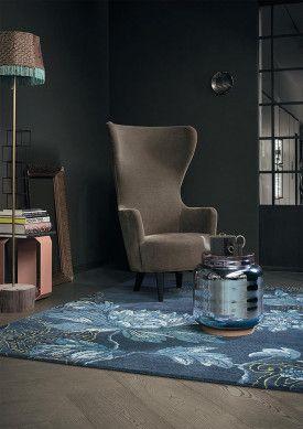 Wedgwood Teppich Fable Floral Navy | Wohnzimmer Teppich Opulent | ONLOOM