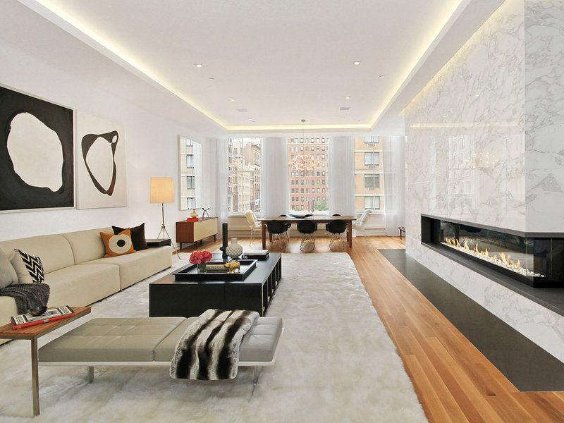 Una neoyorquina vivienda de lujo Lujos, Nueva york y Ecuación - salones de lujo