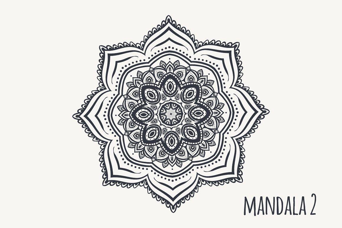 "Mandala PDF PNG EPS10 â""? PNGPDFblackmandala Graphic"