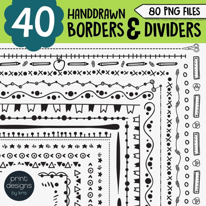 40 Borders Dividers Clip Art For Teachers Clipart Borders For