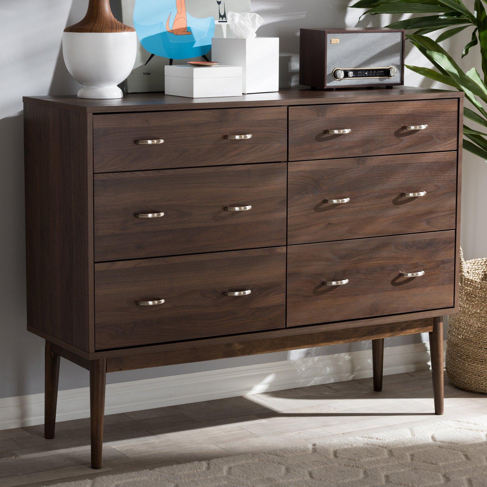 Best Baxton Studio Disa Mid Century Modern 6 Drawer Dresser 400 x 300