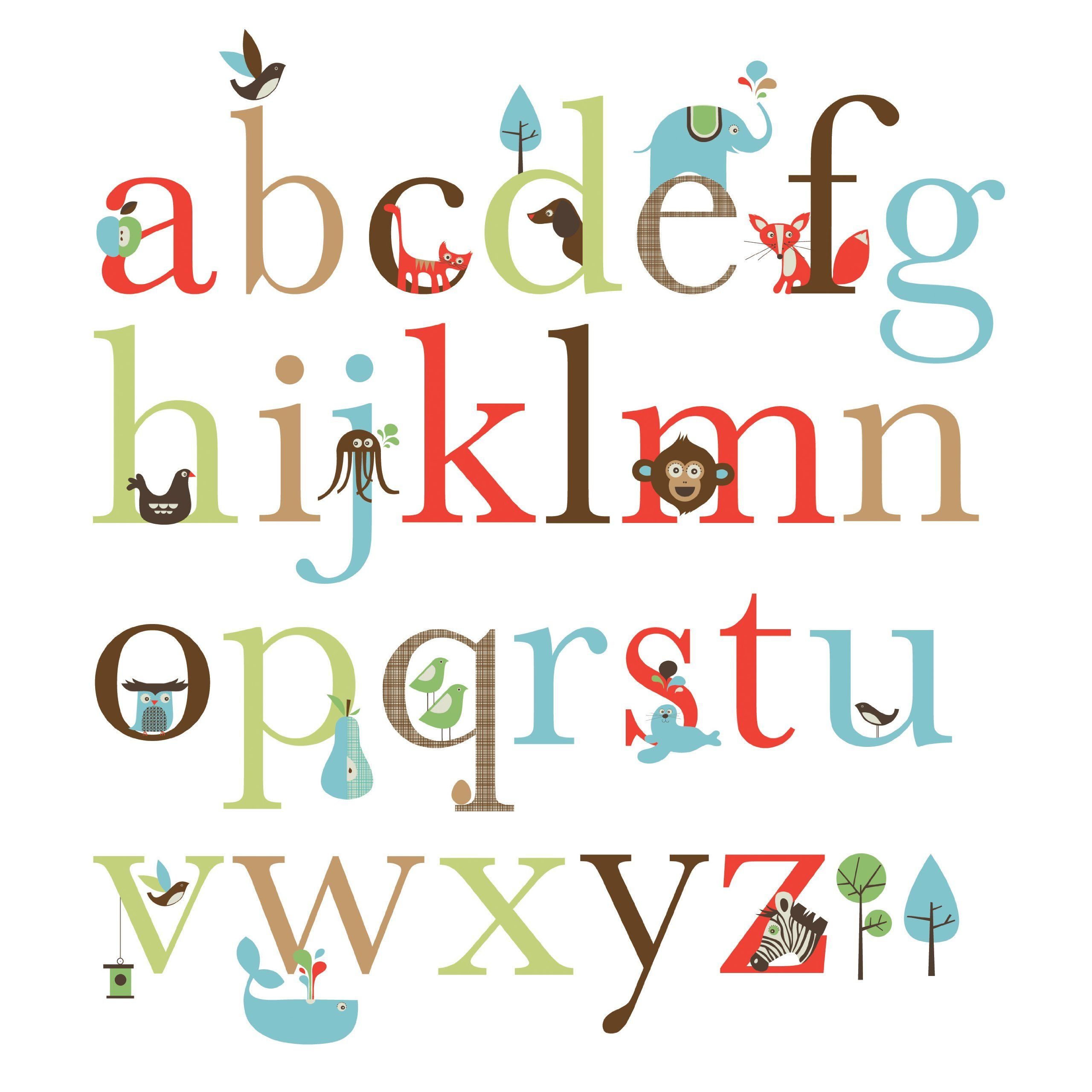 Skip Hop Wall Decals, Alphabet Zoo (Discontinued By Manufacturer)