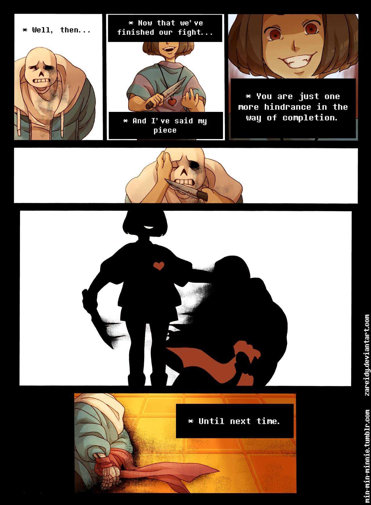 For Sans Comic For My Friend Zareidy(X) The Comic Idea