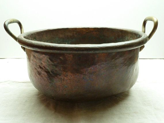 French Antique Copper Cauldron....battered and by LeMoulinBleu, $120.00 SOLD