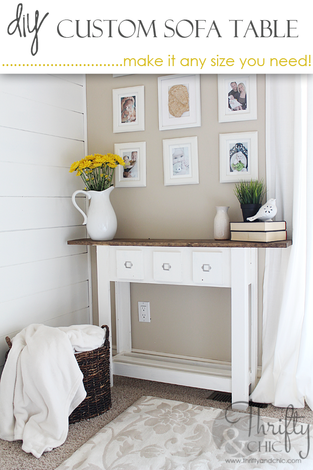 Photo of DIY Sofa Table With Faux Doors (make it in any size you need!)