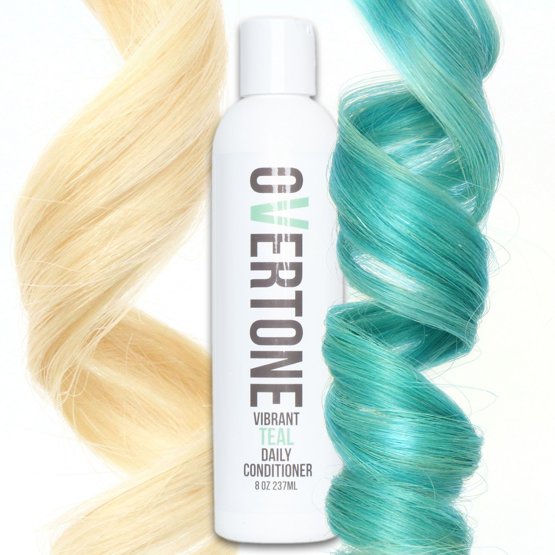 Overtone vibrant teal daily conditioner is a damagefree way to add