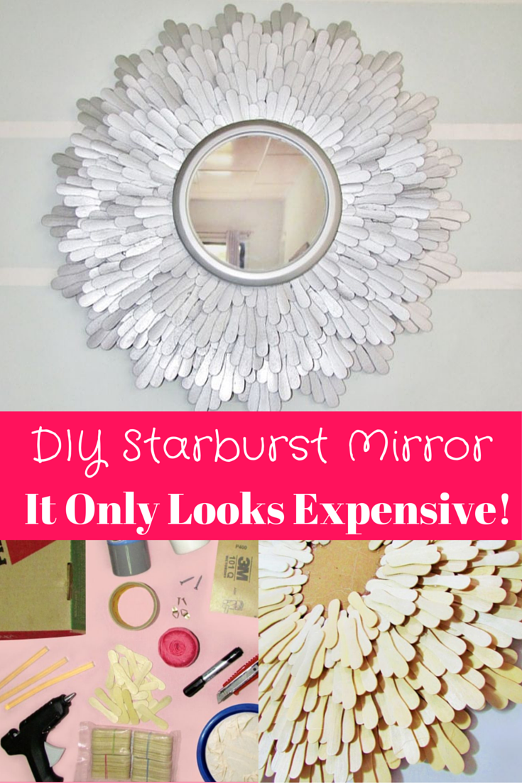 Diy Starburst Mirror Don T Worry It Only Looks Expensive Diy Home Decor Diy Wall Art Home Diy