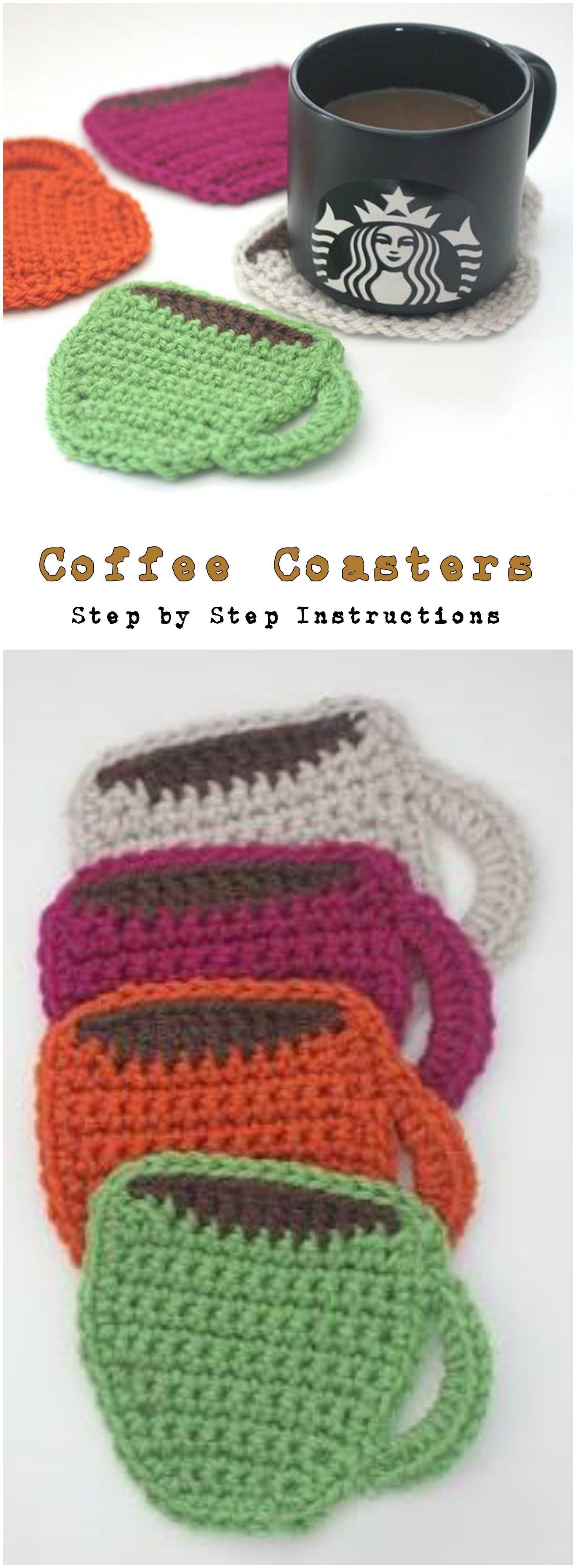 Crochet Coffee Coasters | Pinterest | Häkeln, Topflappen und ...