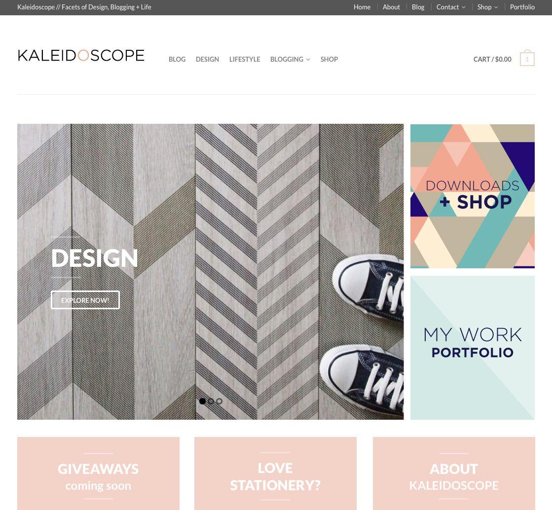 New design of Kaleidoscope Blog using Flatsome theme for Wordpress ...