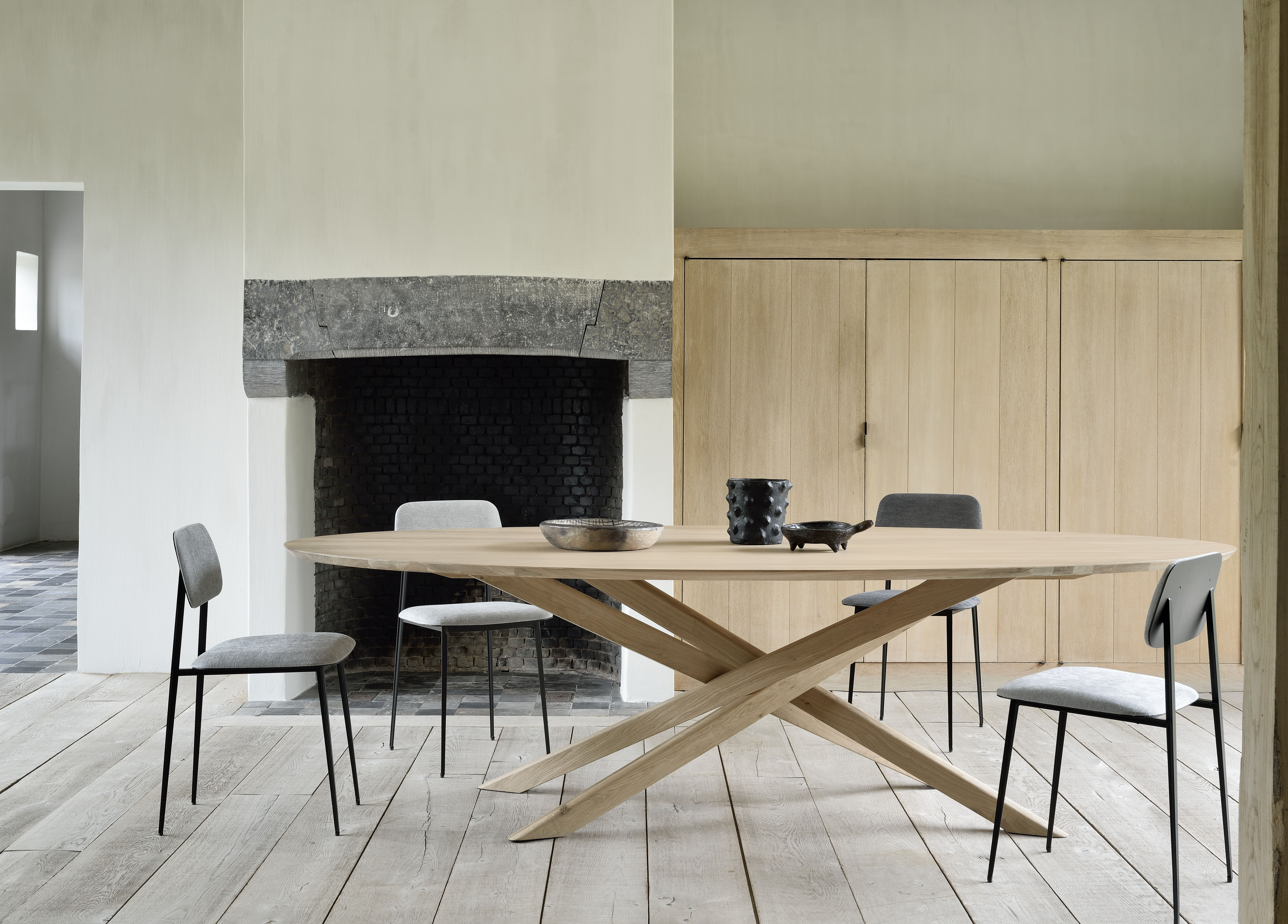 Oak Mikado Dining Table Oval Oval Table Dining Dinner Tables
