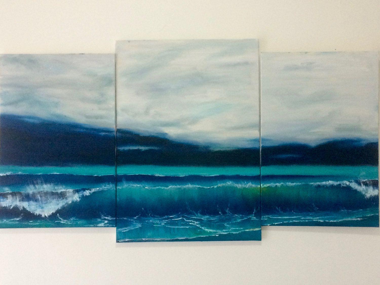 Multi panel painting, multi panel art, multi panel oil painting ... - multipanel painting, panel art, multipanel oil painting, seascape painting,  wave painting,