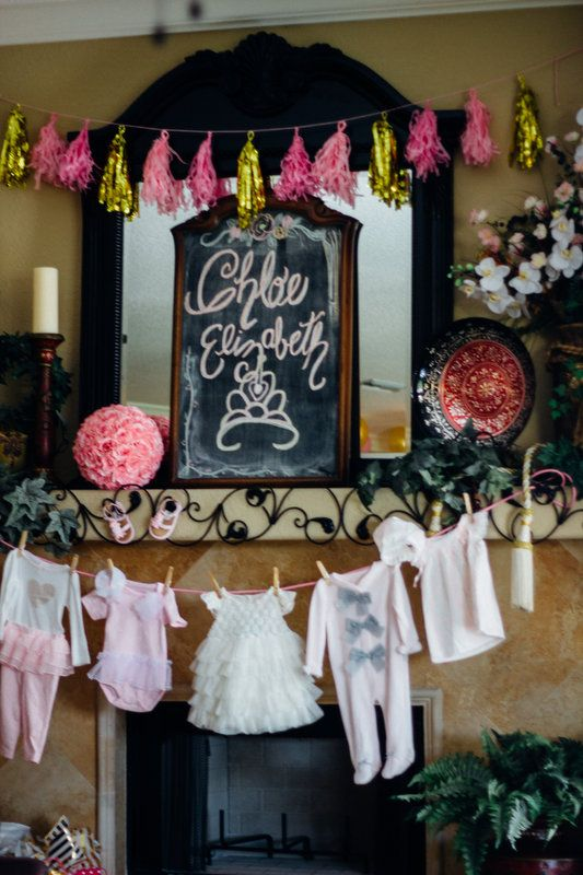 Pink Sparkly Princess Baby Girl Shower Photos by Kaylee Horne Photography