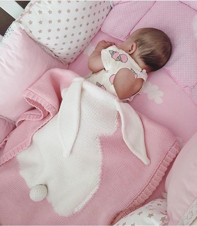 super soft sofa blanket warm hand crocheted knitting baby rabbit blanket cute home textile