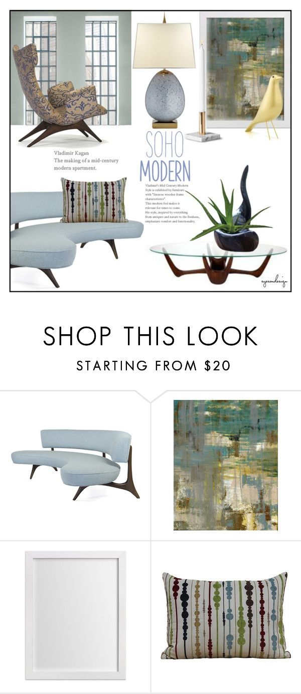 """Soho Modern ~ Vladimir Kagan"" by eyesondesign ❤ liked on Polyvore featuring interior, interiors, interior design, home, home decor, interior decorating, Better Homes and Gardens, Vitra, modern and interiordesign"