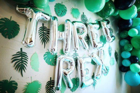 Three Rex Balloons - Three Rex Party Decor - Third Birthday Decor - Dinosaur Party Decor - Dinosaur Balloons - TRex Party Decor