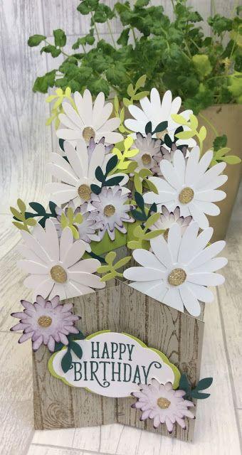 Daisy Delight cascade card and instructions