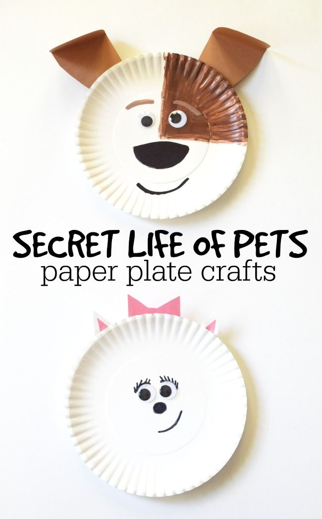 Secret Life Of Pets Max And Gidget Paper Plate Crafts This Girl S Life Blog Disney Crafts For Kids Paper Plate Crafts Secret Life Of Pets