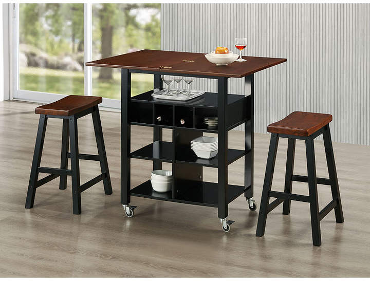 4D Concepts Phoenix Kitchen Island with 2 Stools in 2018 Products