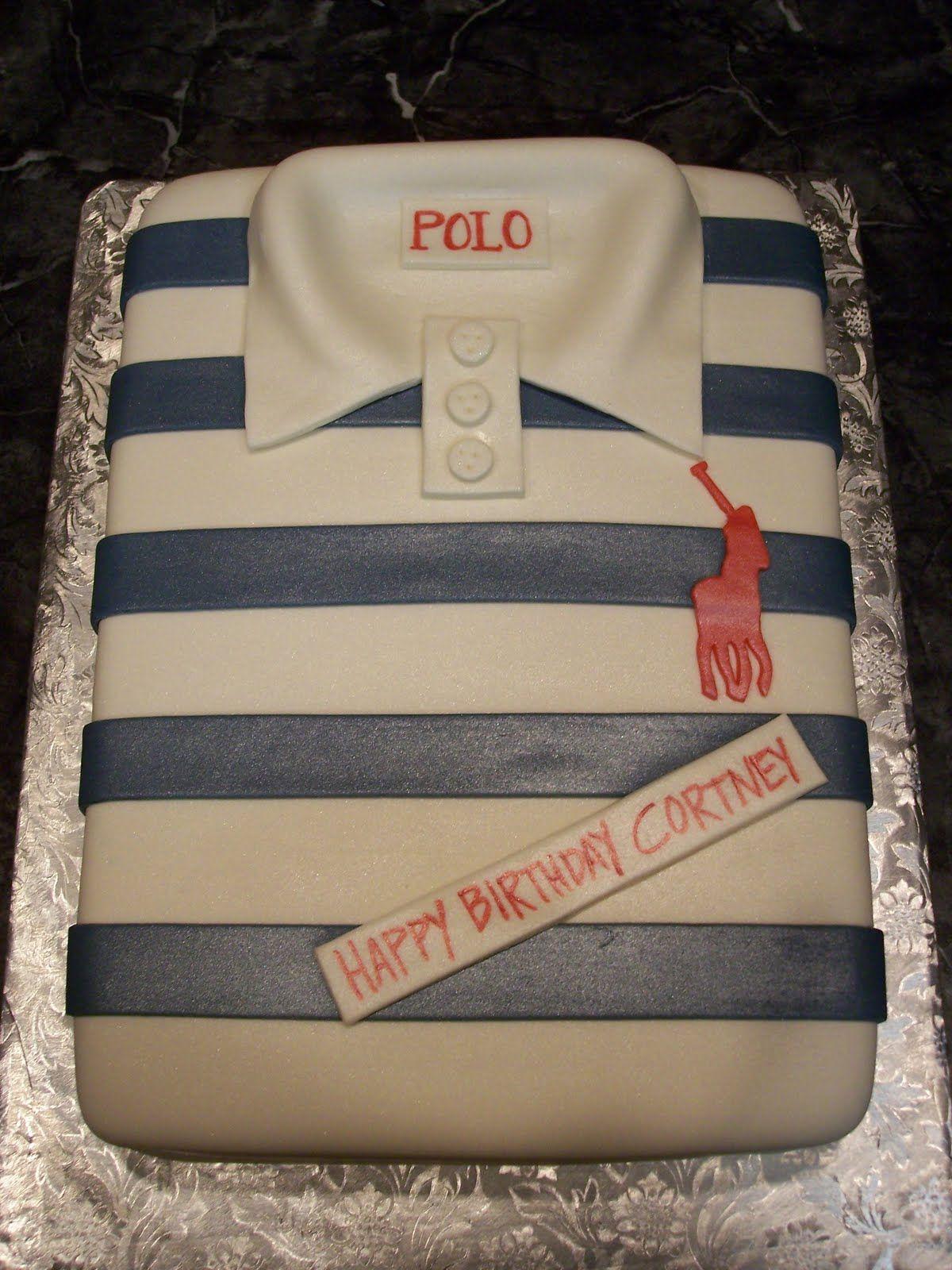 Shirt Cakes MoniCakes Polo Shirt Cake Fathers Day Cake - Birthday cake shirt