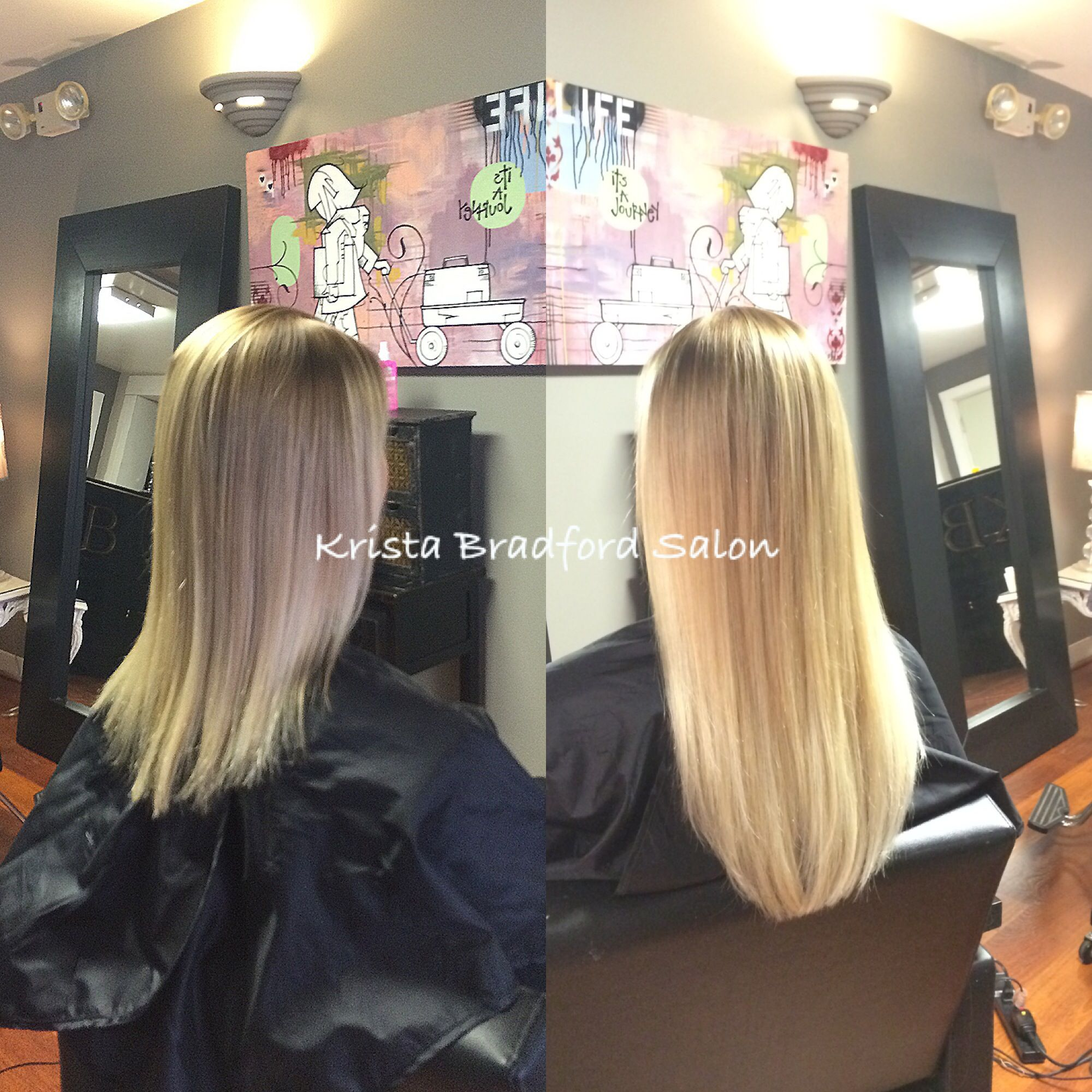 Hair Extensions And Color Before And After Krista Bradford Salon