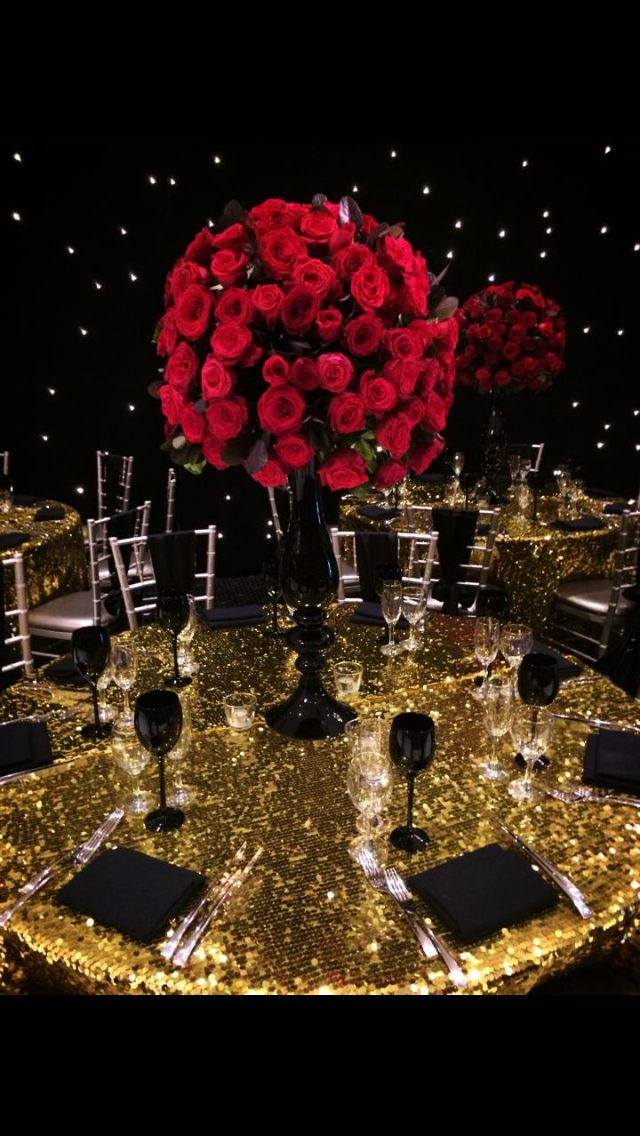 Classy Table Wedding Themes Gold Party Wedding Decorations