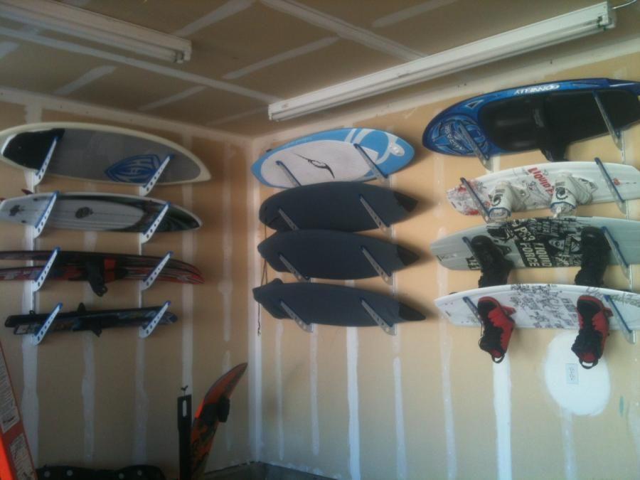 Adjustable Metal Surfboard Wall Rack 4 Boards Surfboard Wall