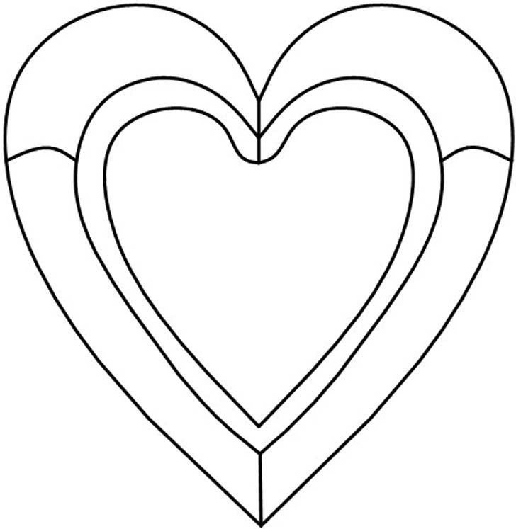 The center Heart is fastened to the outer Heart by a