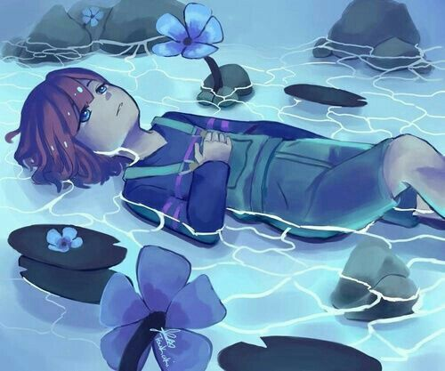undertale frisk in waterfall - photo #27