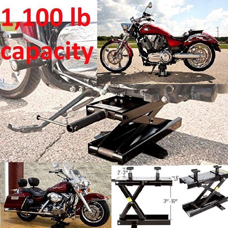 Motorcycle Center Scissor Lift Floor Jack Stand Hoist Bikes Cruiser 1100lb Heavy Ragepowersports Cruiser Bike Jack Stands Motorcycle
