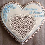 Medovníky svadobné, galéria | Torty od mamy