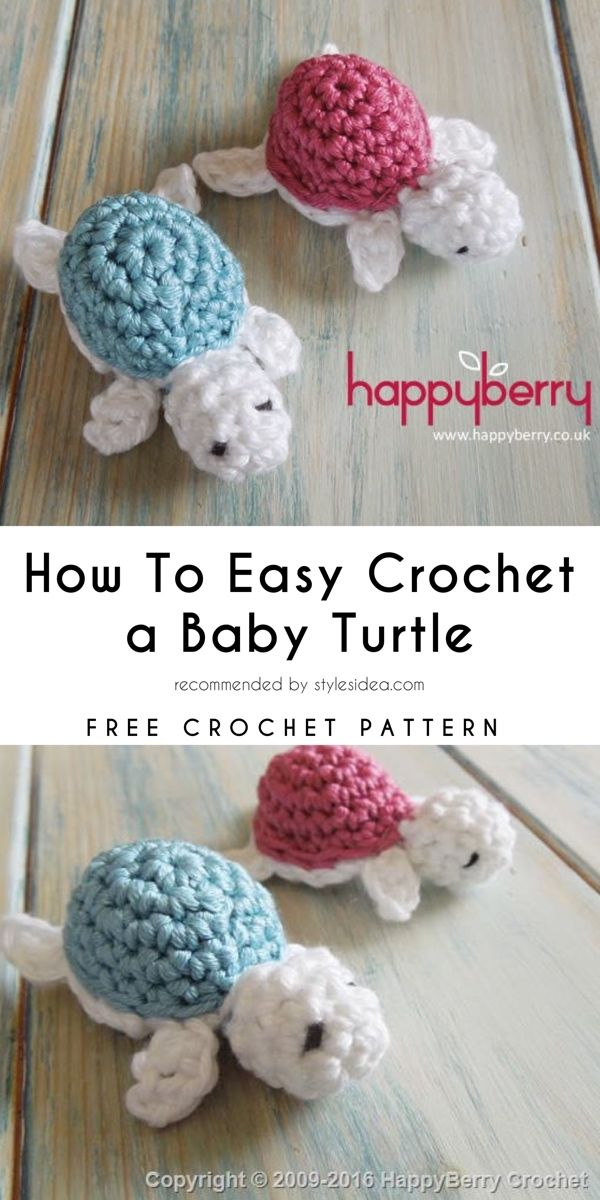 How To Crochet A Baby Turtle Pattern Free Pinterest Babyparty