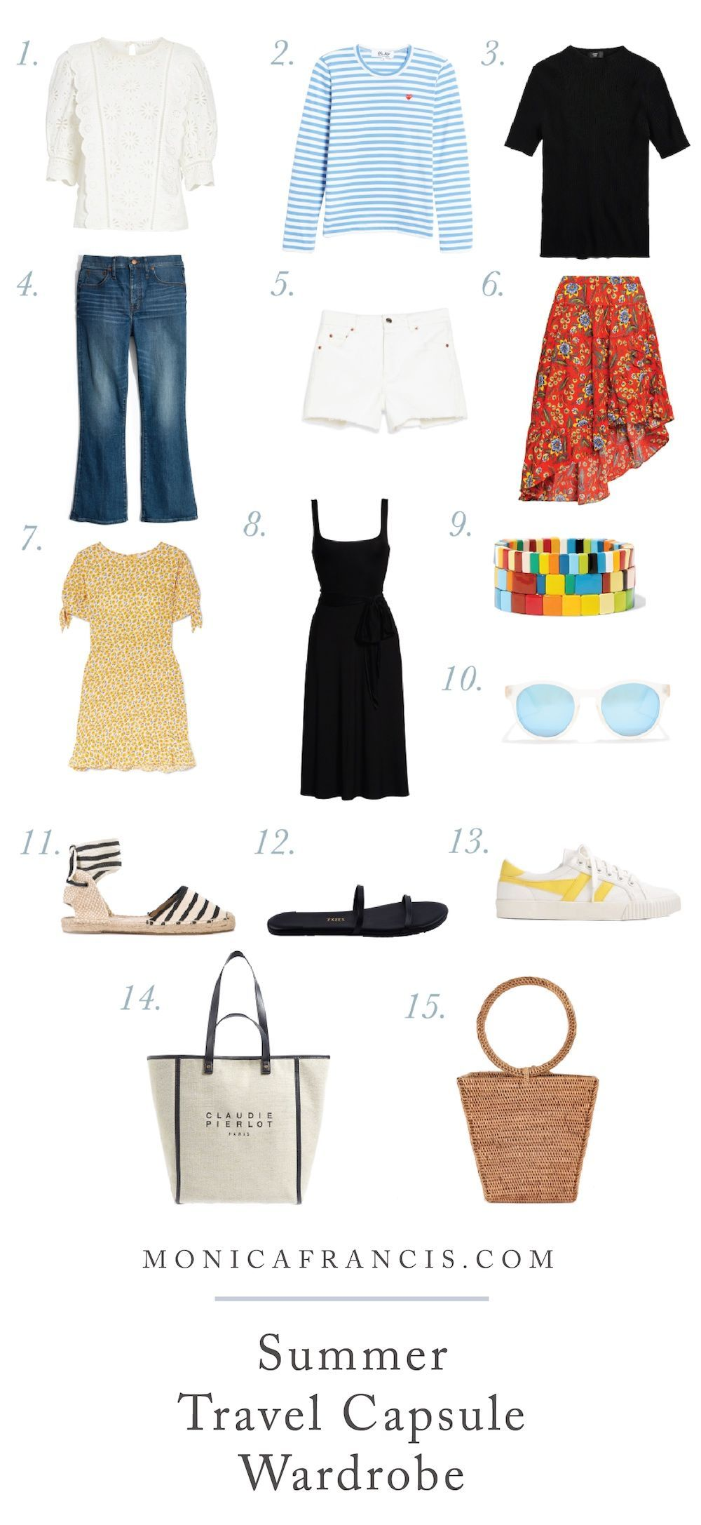 How to Pack a Summer Travel Capsule Wardrobe   Wherever you're headed next, from