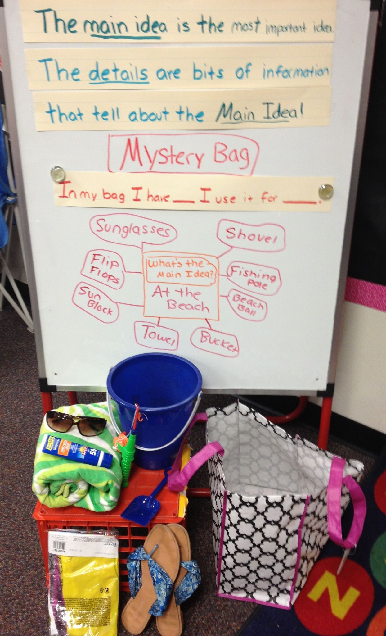 Main Idea Mystery Bag Doing This As Introduction