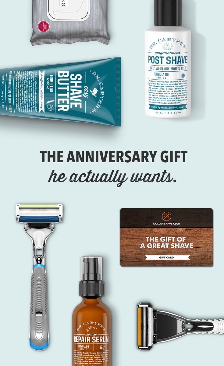 Give Him An Unforgettable Gift Make A Member In Dollar Shave Club Amazing Razors Delivered Every Month Of The Year Today