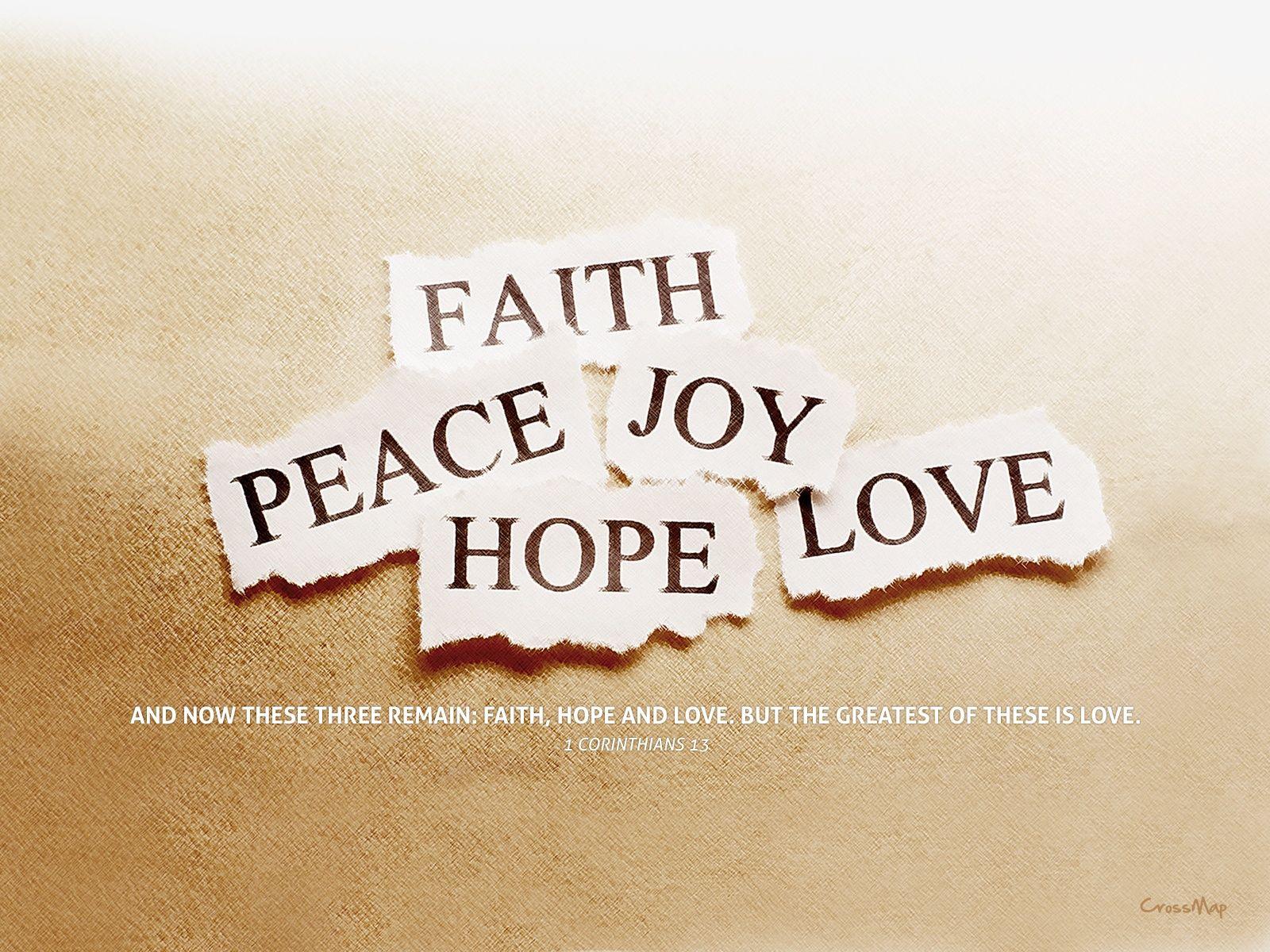 Photo collection Faith Hope Love Desktop Wallpaper