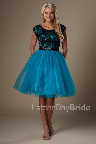 Devyn | Modest Prom Dress | Mormon Prom Gown | Sleeves ...