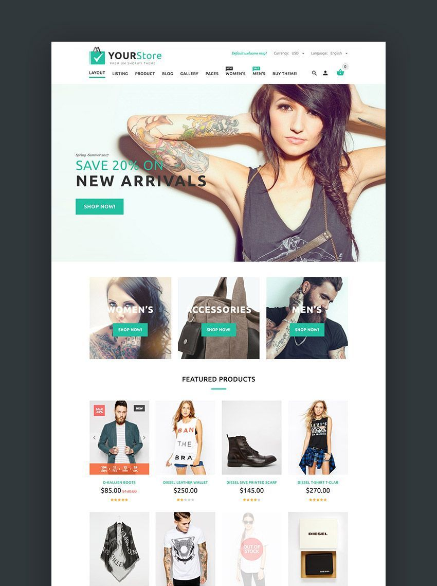 20 Best Shopify Themes With Beautiful Designs
